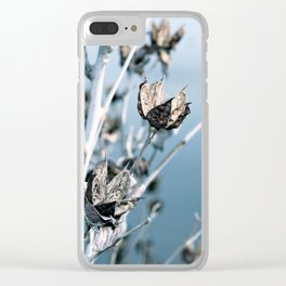 Winter Seed Pods Clear iPhone Case