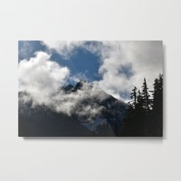 Foggy Mountain Metal Print