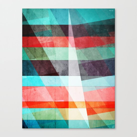 Colorful Grunge Stripes Abstract Canvas Print