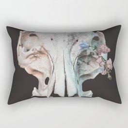 Skull + Flowers Rectangular Pillow