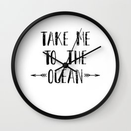 Missing Beach in Summer Take Me To The Ocean Surfing Hawaii Wall Clock