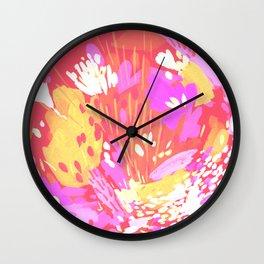 Flower Bomb Hot Wall Clock