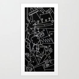 School blackboard Art Print
