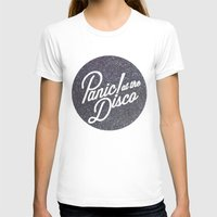 panic at the disco T-shirts featuring Panic! at the disco round glitter by Van de nacht