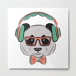 Rock The Panda Metal Print