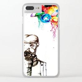Jellyfish Salesman Clear iPhone Case