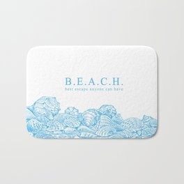 BEACH- Best escape anyone can have - Mix & Match with Simplicity of Life Bath Mat