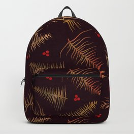 Fronds & Berries in Fall Backpack