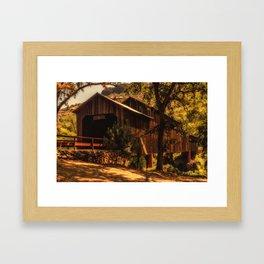 Honey Run Covered Bridge Framed Art Print