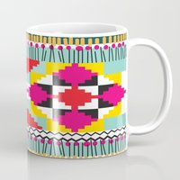 ethnic Mugs featuring Ethnic by Maria Blanco