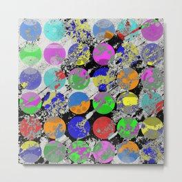 Textured Circles - Abstract, geometric, textured artwork Metal Print