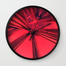 Red Abstract Wall Clock