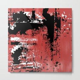 Grunge Paint Flaking Paint Dried Paint Peeling Paint Red White Black Metal Print