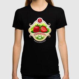 strawberry label T-shirt