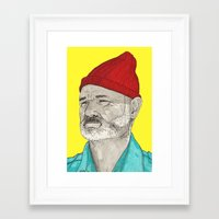 steve zissou Framed Art Prints featuring Steve Zissou  by TomLSharp
