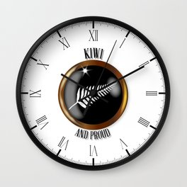New Zealand Proud Flag Button Wall Clock