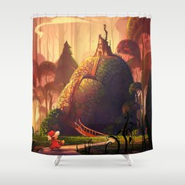 The Little Red Riding Hood Shower Curtain
