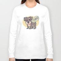 schnauzer Long Sleeve T-shirts featuring Schnauzer! by Cargorabbit