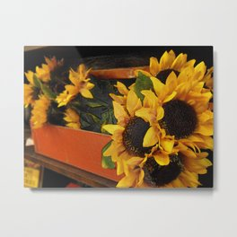 A Gathering of Sunflowers Metal Print