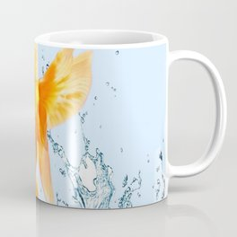 JUMPING  GOLDFISH SPLASHING  WATER ART Coffee Mug