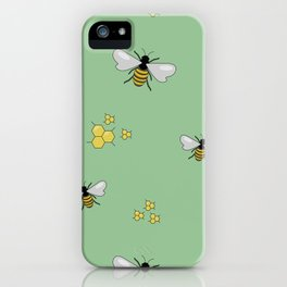 Bee a Honey - Green iPhone Case