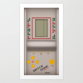 brick game Art Print
