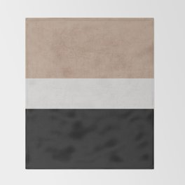 classic - natural, cream and black Throw Blanket