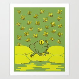 Frog Pond Art Print