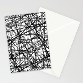 Geometric Collision - Abstract black and white Stationery Cards