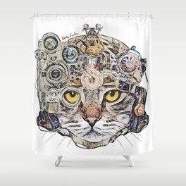 Sci Fi Cat Shower Curtain