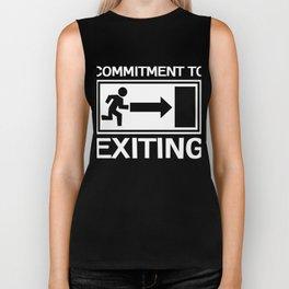 Great Commitment Tshirt Design Exiting Biker Tank