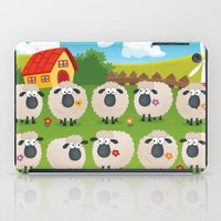 sheep iPad Cases featuring Sheep by Elle Moz