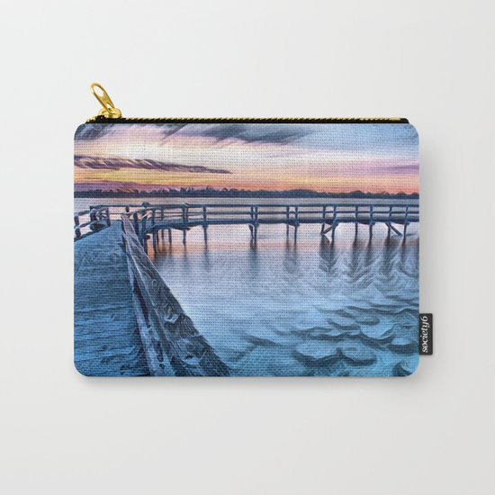Dock on the River (Sunset) Carry-All Pouch