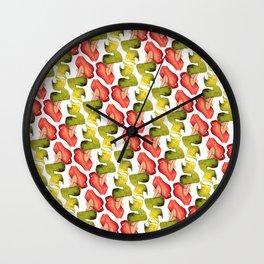 Mermaid Summer Pattern Wall Clock