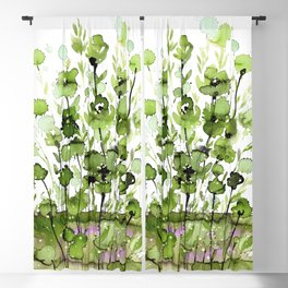 Floral Charm No.1I by Kathy Morton Stanion Blackout Curtain