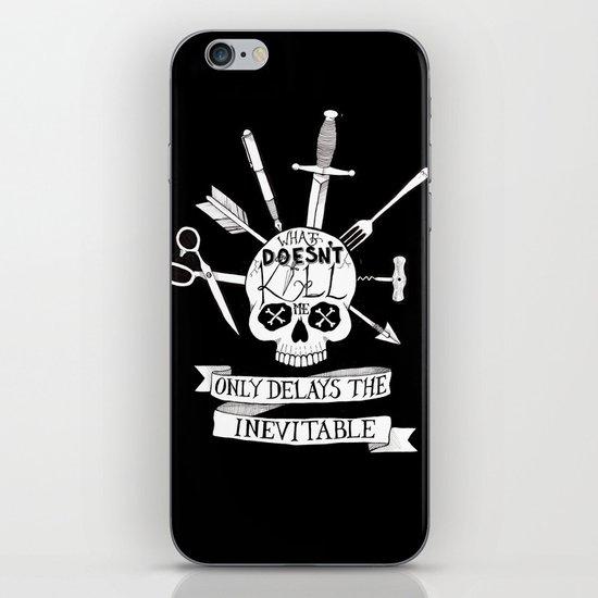 What Doesn't Kill Me - Black iPhone Skin
