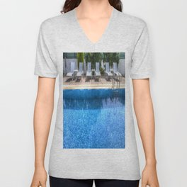 Summer Swimming Pool Unisex V-Neck