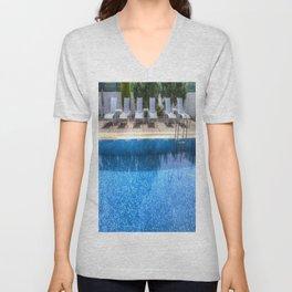 Summer Swimming Pool Unisex V-Neck