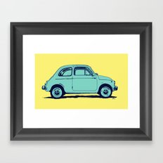Fiat 500 Framed Art Print