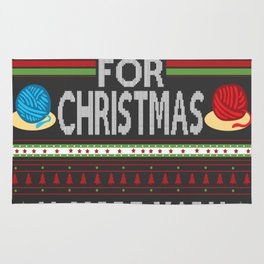All I Want For Christmas is More Yarn Ugly Rug