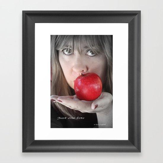 Just one Bite Framed Art Print