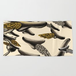 Flying noses Beach Towel