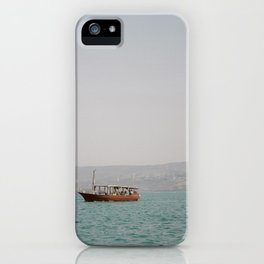 Sailing on the Sea of Galilee - Holy Land Fine Art Film Photography iPhone Case