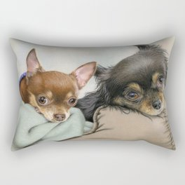 Like Two Chi's In A Pod Rectangular Pillow