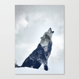 Wolf. Into the Wilderness Canvas Print