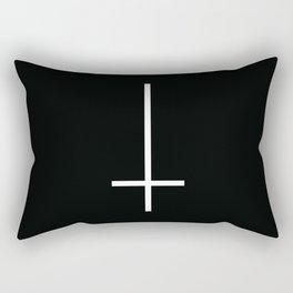 Flipped over cross Rectangular Pillow