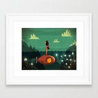 submarine Framed Art Prints featuring Submarine by Ilias Sounas