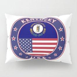 Kentucky, Kentucky t-shirt, Kentucky sticker, circle, Kentucky flag, white bg Pillow Sham