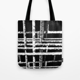 Rebar And Brick - Industrial Abstract Tote Bag
