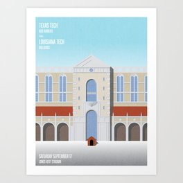 Our House - La Tech vs. TTU 09.17.16 Art Print